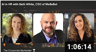 View the Corporate Bartender interview with Beth White, MeBeBot's Founder and CEO