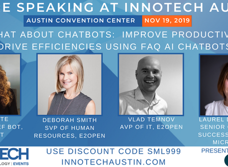 Chat about Chatbots with E2open and Microsoft at Innotech Austin