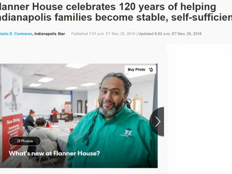 """Indy Star, """"Flanner House celebrates 120 years of helping Indianapolis families become stable"""""""