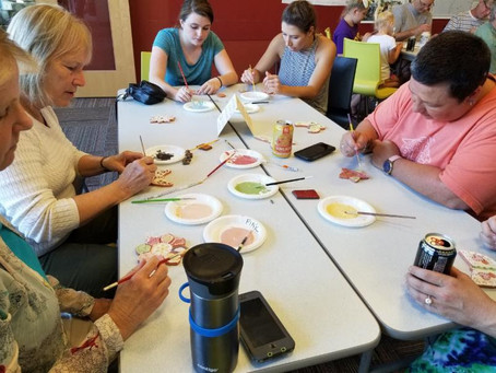Neighbors Paint Mosaic Tiles for Prospect Falls Greenspace