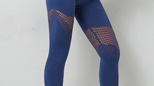 NEW Trendy Mesh Leggins Blue