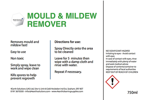 4Earth Mould & Mildew Remover 750ml