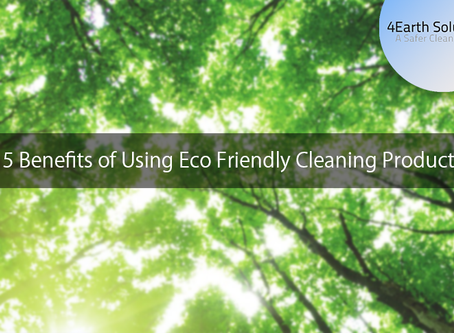 5 Benefits of Using Eco Friendly Cleaning Products