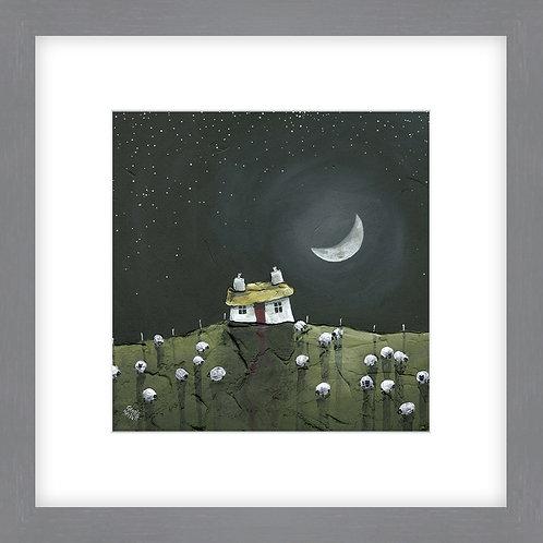 Crescent Moon - Framed Print