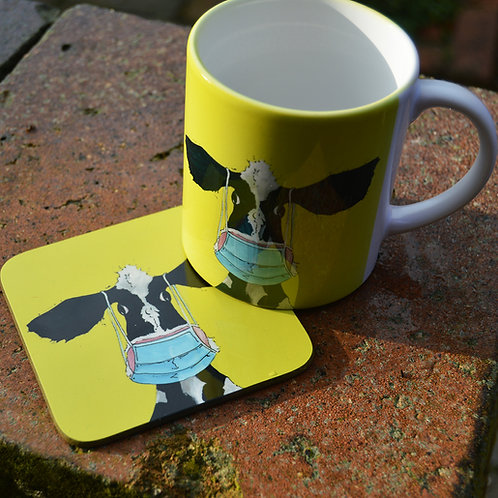 Cowrona Mug & Coaster Set