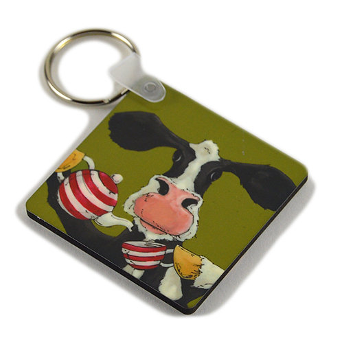 Tea for Moo - Keyring