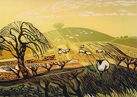 Winter Fields with Sheep