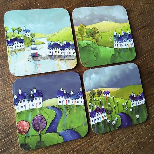 Overcast - Set of 4 Coasters