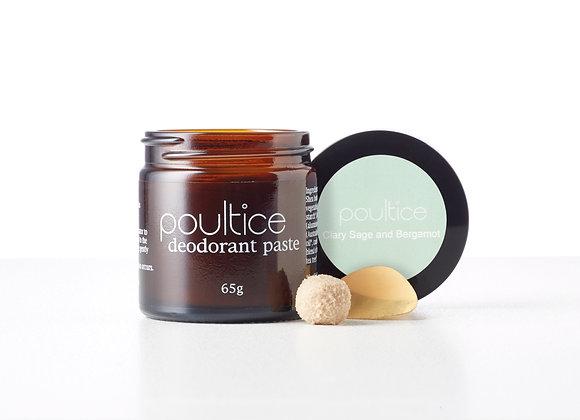Poultice Natural Australian Deodorant - Clary Sage & Bergamot