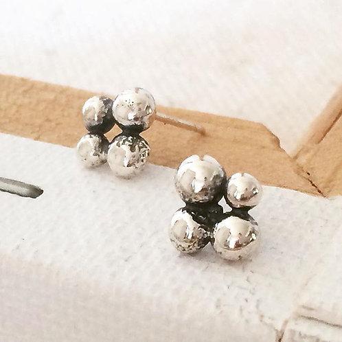 Caviar Cluster Post Earring