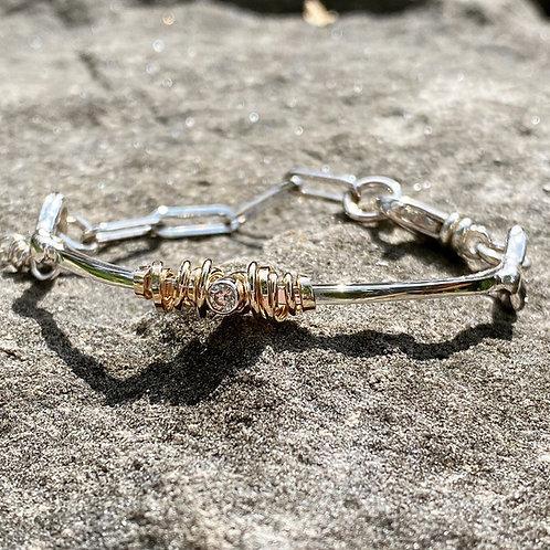 Coil & Stone Bracelet