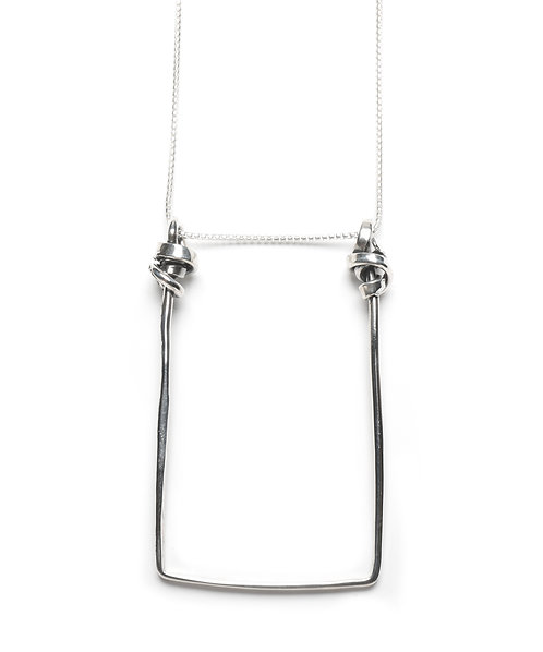 Large Floating Square Necklace