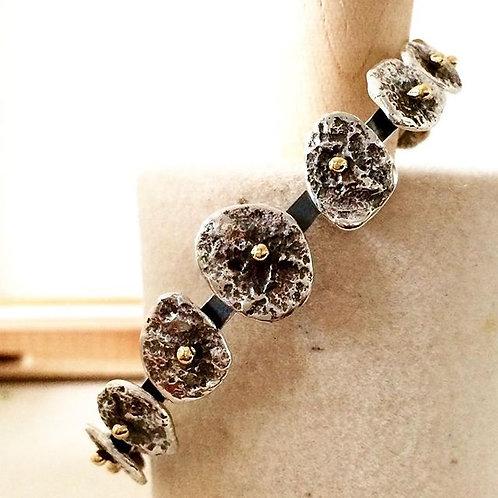 Gold Rivet Castanet Bracelet