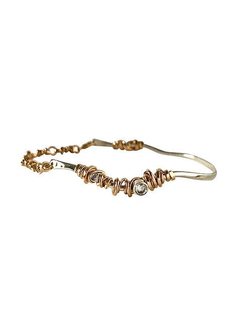 Statement Coiled Stone Bracelet
