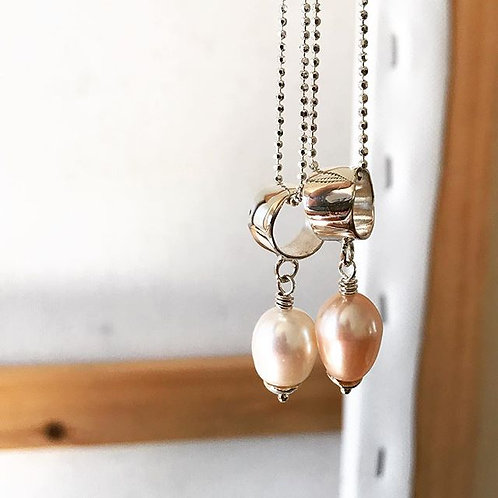Eternity Necklace with Pearl