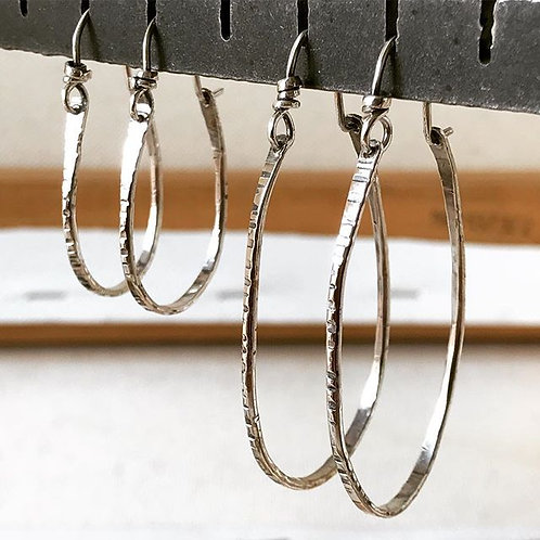 Bark Wired Hoop S, L