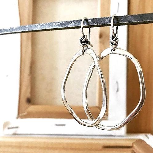 Happiness Oval Hook Earring
