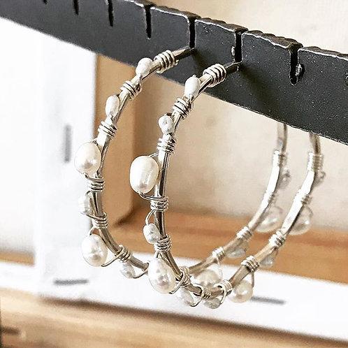 Pearl Wrap Hoops S, M, L