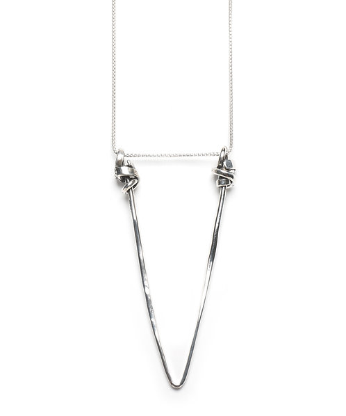 Large Floating Triangle Necklace