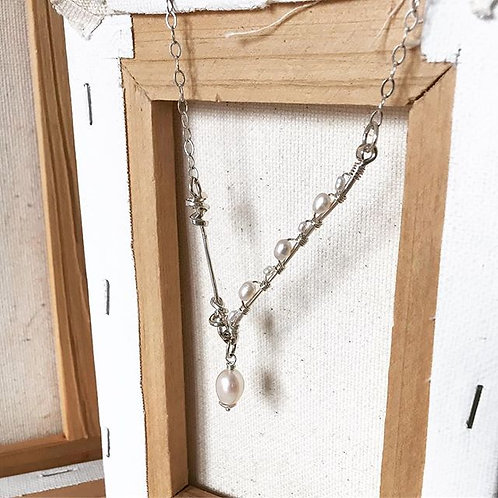 Pearl Wrapped Branch Necklace