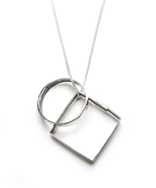 Circle & Square Doubles Necklace