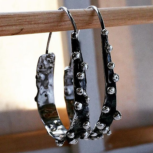 Oval Dotted Earring