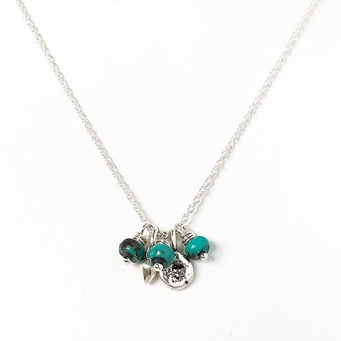 Tiny Charms Turquoise Necklace