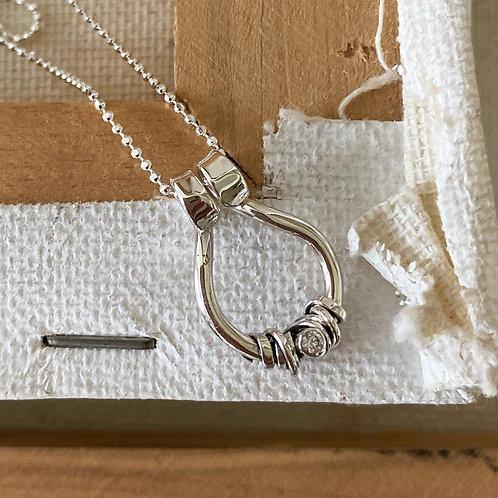 Tear Shaped Pendant Necklace