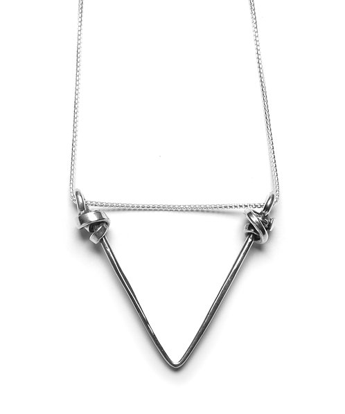 Floating Triangle Necklace Small