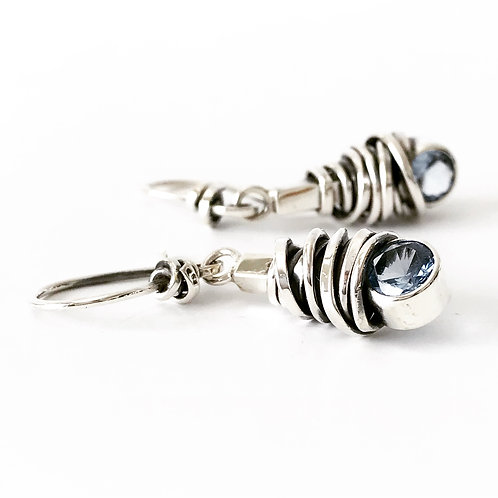 Coiled Stone Earring