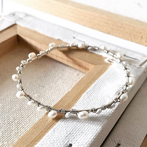 Pearl Wrapped Bangle