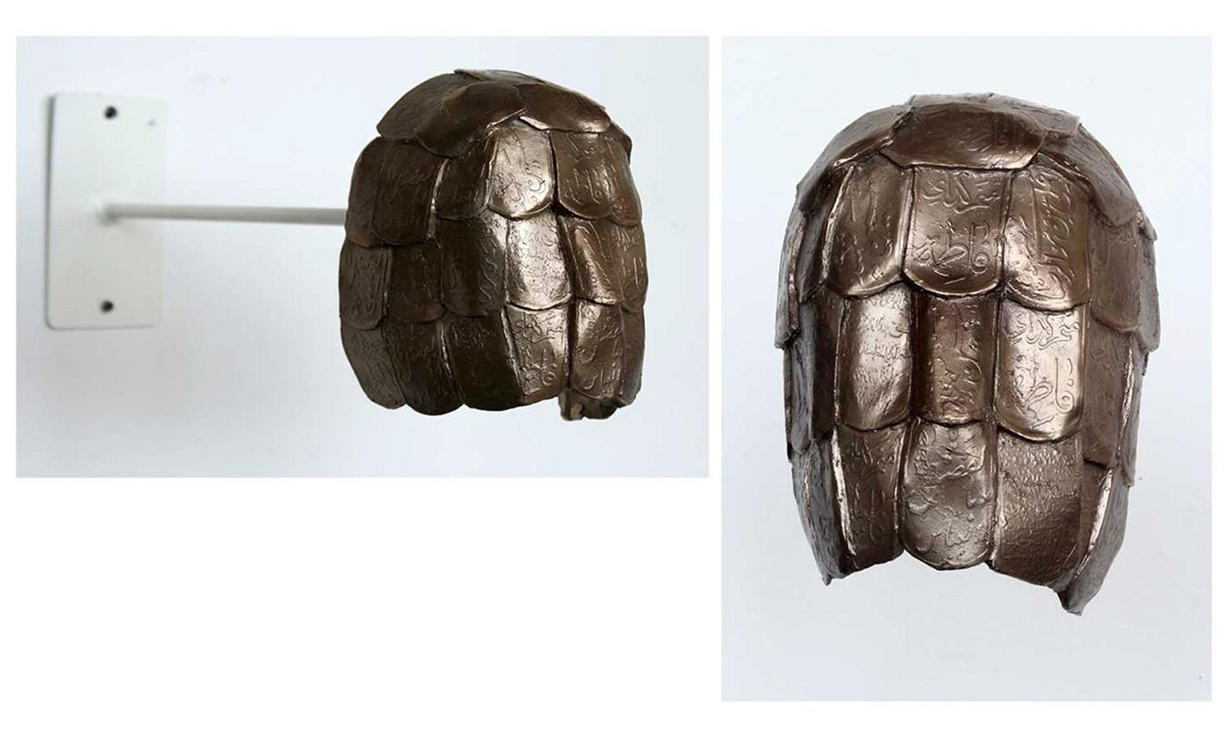 "The Religouse Mask, Bronze, 8"" x 10"" x 3"", 2014"