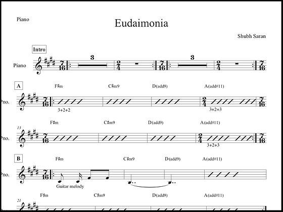 Eudaimonia • Piano