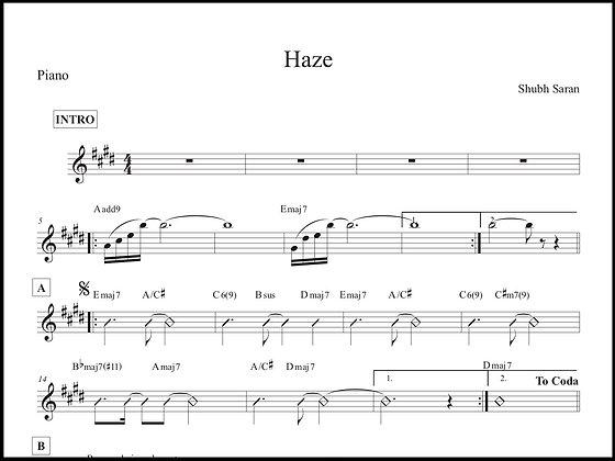 Haze • Piano