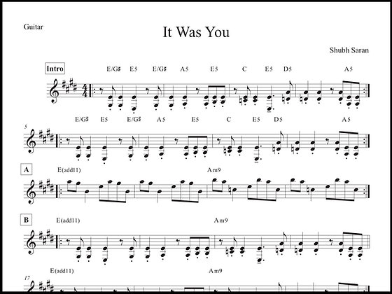 It Was You • Guitar