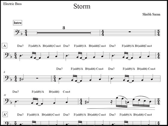 Storm • Bass Guitar