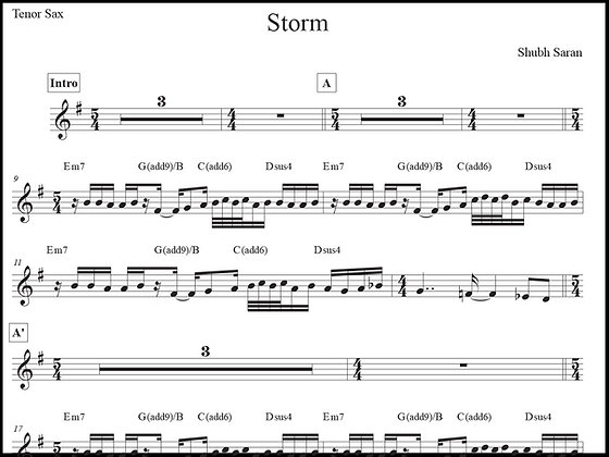 Storm • Tenor Sax