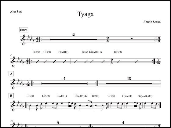 Tyaga • Alto Sax