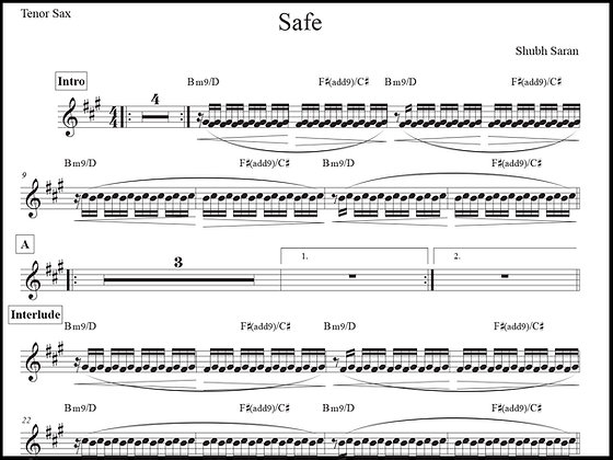 Safe • Tenor Sax