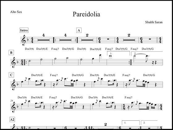 Pareidolia • Alto Sax