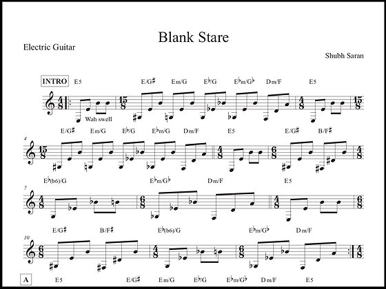 Blank Stare • Guitar