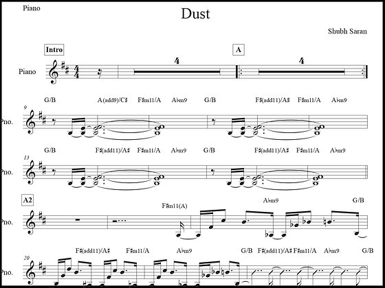 Dust • Piano