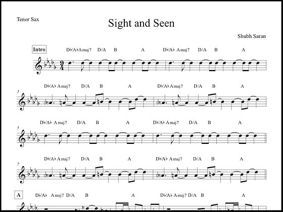Sight and Seen • Tenor Sax