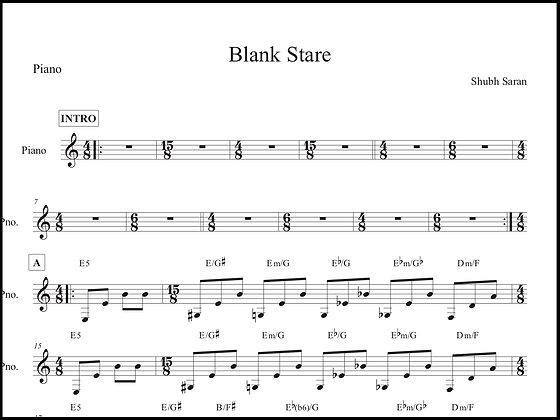 Blank Stare • Piano