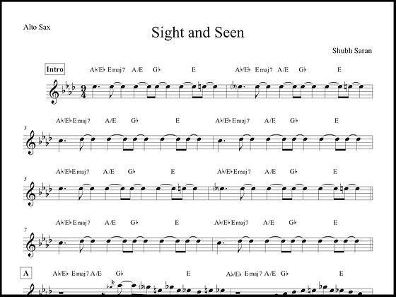 Sight and Seen • Alto Sax