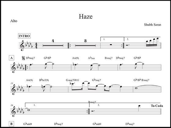 Haze • Alto Sax