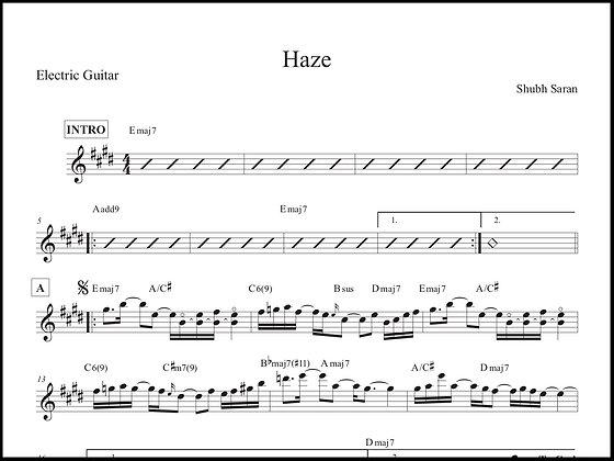 Haze • Guitar