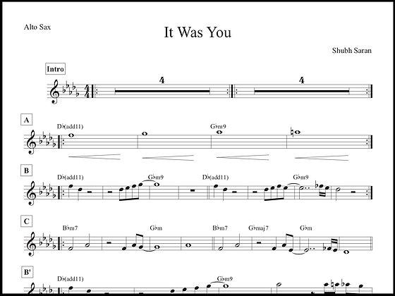 It Was You • Alto Sax