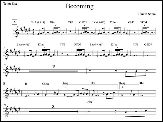 Becoming • Tenor Sax
