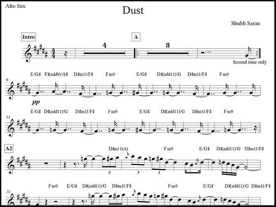 Dust • Alto Sax